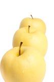 jabłka kolor żółty zdjęcia stock