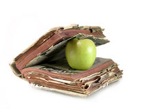 jabłka książki zieleń Zdjęcie Stock