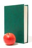 jabłka książki zieleni czerwień fotografia royalty free