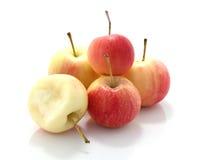 Jabłka odizolowywają fotografia stock