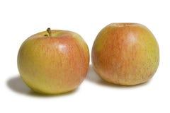 Jabłka odizolowywający na bielu Zdjęcia Royalty Free