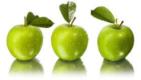 jabłka opuszczają wodę trzy Zdjęcie Royalty Free