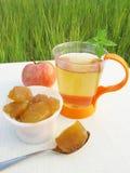 jabłka owoc dżemu herbata Obrazy Royalty Free