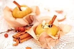 jabłka piec faszerującymi Fotografia Stock