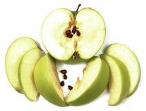 jabłka pokrajać Zdjęcie Stock