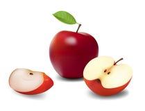 jabłka pokrajać Fotografia Royalty Free