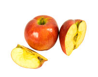 jabłka pokrajać całego Zdjęcie Royalty Free
