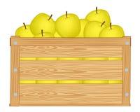 jabłka pudełko Obraz Royalty Free