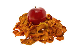 jabłka suszą czerwień Obraz Royalty Free