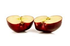 jabłka tła używania żywności odizolowane materiałami white Zdjęcie Royalty Free