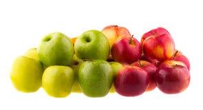 jabłka tła używania żywności odizolowane materiałami white Owoc Obrazy Royalty Free