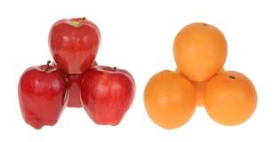jabłka target489_0_ pomarańcze Obrazy Royalty Free