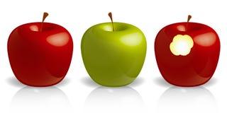 jabłka trzy obrazy royalty free