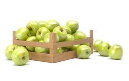 Jabłka w pudełku Zdjęcie Royalty Free
