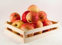 Jabłka w pudełku zdjęcie stock
