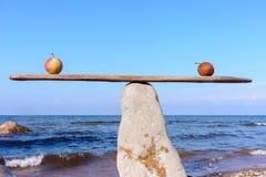 Jabłka w równowagę obrazy royalty free