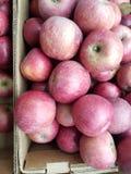 Jabłka w skrzynce obraz stock