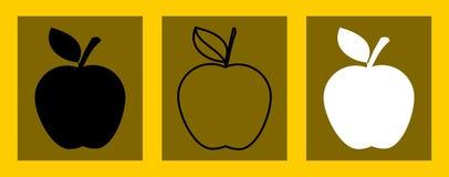 Jabłka w trzy kolorach ilustracji