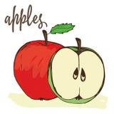 Jabłka wręczają malują Fotografia Royalty Free