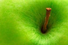 jabłka zakończenia zieleń Obrazy Stock