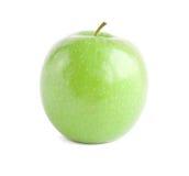 jabłka zakończenia zieleń odizolowywająca odizolowywać Obraz Stock