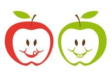 jabłka zielenieją czerwień Zdjęcia Royalty Free