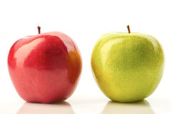 jabłka zielenieją czerwonego biel Obraz Royalty Free