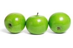 jabłka zielenieją trzy Zdjęcia Royalty Free