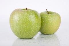 jabłko biel świeży zielony soczysty Obraz Royalty Free