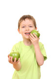 jabłko chłopcze obrazy stock