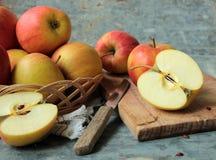 jabłko cutted obrazy stock