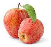 jabłko czerwień dwa obrazy stock