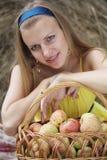 jabłko dziewczyna Zdjęcie Stock