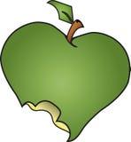 jabłko gryźć zieleń Zdjęcia Stock