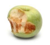 jabłko gryźć zieleń fotografia stock
