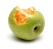 jabłko gryźć zieleń fotografia royalty free