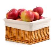 jabłko kosza czerwień obrazy royalty free