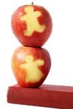 jabłko książka Fotografia Royalty Free