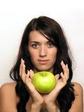 jabłko młodych kobiet obrazy stock