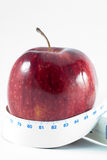 jabłko metr Fotografia Royalty Free