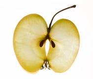 jabłko odizolowywający plasterka biel Obraz Stock