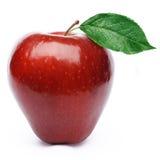 jabłko opuszczać czerwień Zdjęcia Royalty Free
