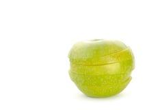 jabłko plasterki obrazy stock