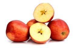 jabłko połówka dwa zdjęcia royalty free