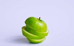 jabłko pokrajać Fotografia Royalty Free