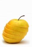 jabłko pokrajać obraz stock