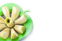 jabłko pokrajać Obrazy Royalty Free
