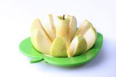 jabłko pokrajać Zdjęcia Stock
