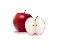 jabłko pokrajać Zdjęcie Stock