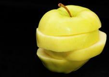 jabłko pokrajać Fotografia Stock